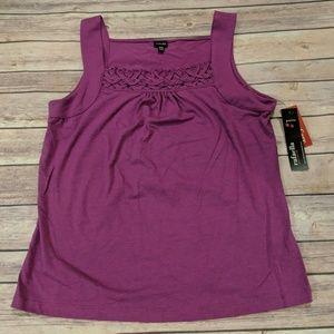 NWT, Purple Embroidery Tank, Rafaella